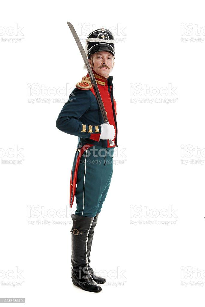 Guardsman with saber stock photo