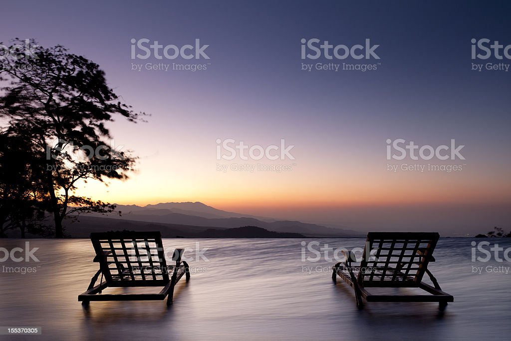 Guatemala Central Highlands Sunrise at La Reunion stock photo