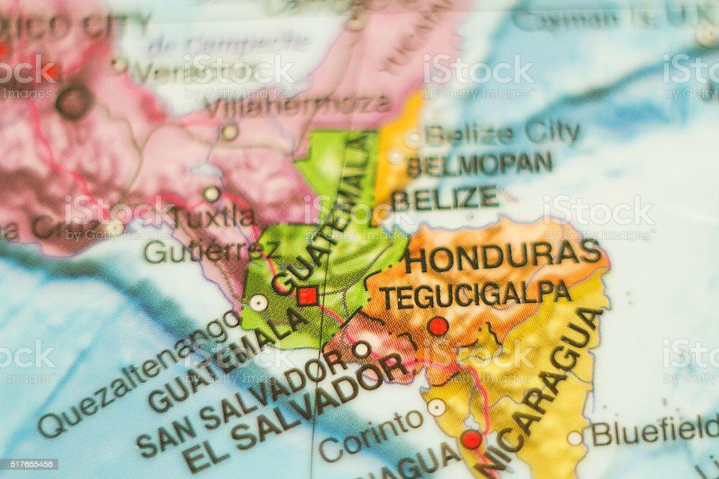 Guatemala country map . stock photo