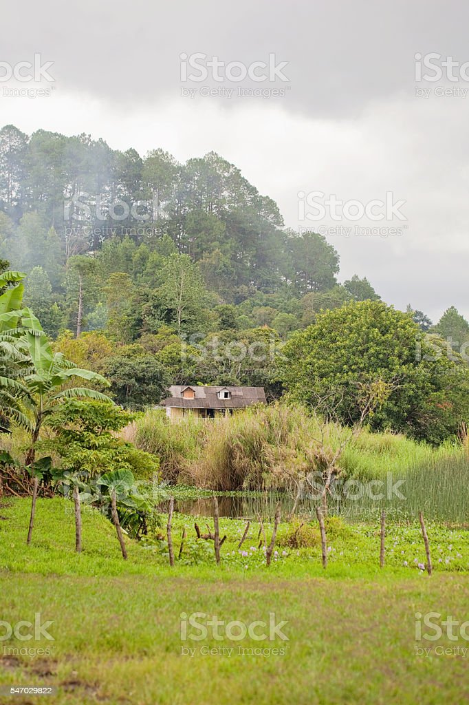 Guatemala Plantation House stock photo