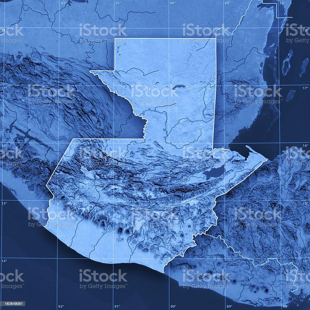 Guatemala Topographic Map royalty-free stock photo