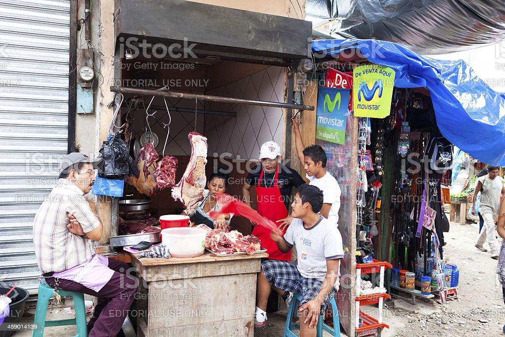 Guatemalan Butcher royalty-free stock photo