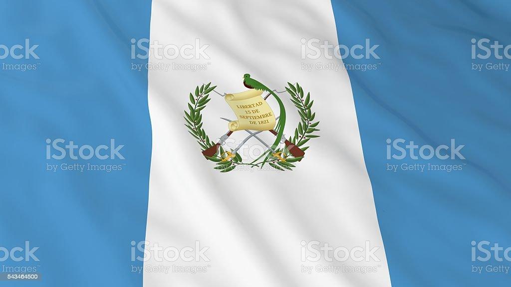 Guatemalan Flag HD Background - Flag of Guatemala 3D Illustration stock photo