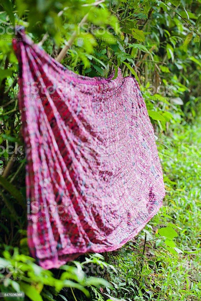 Guatemalan Skirt Material stock photo