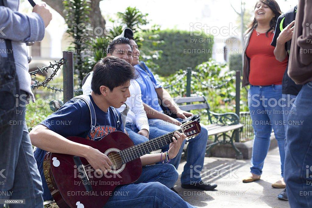 Guatemalan teenagers royalty-free stock photo
