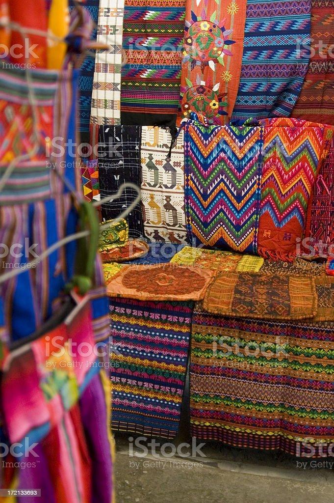 Guatemalan Textile Market stock photo