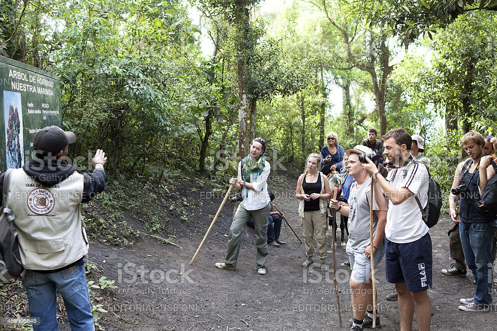 Guatemalan tour guide royalty-free stock photo
