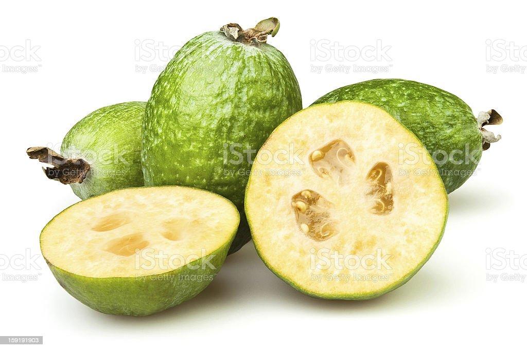 Guava cut royalty-free stock photo
