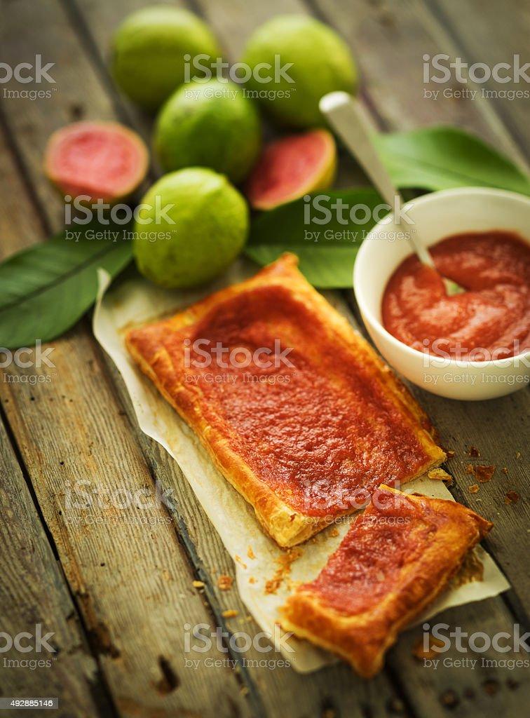 Guava dessert stock photo