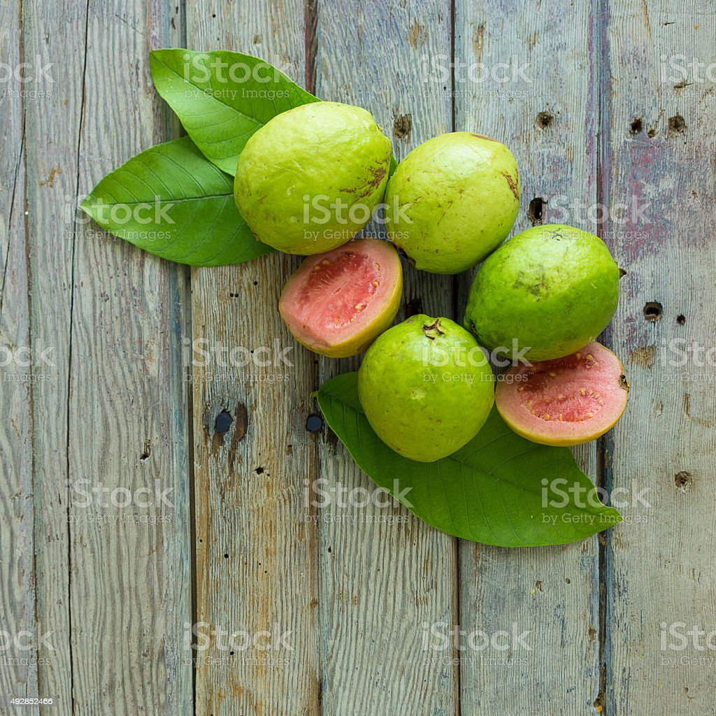 guava fruits stock photo