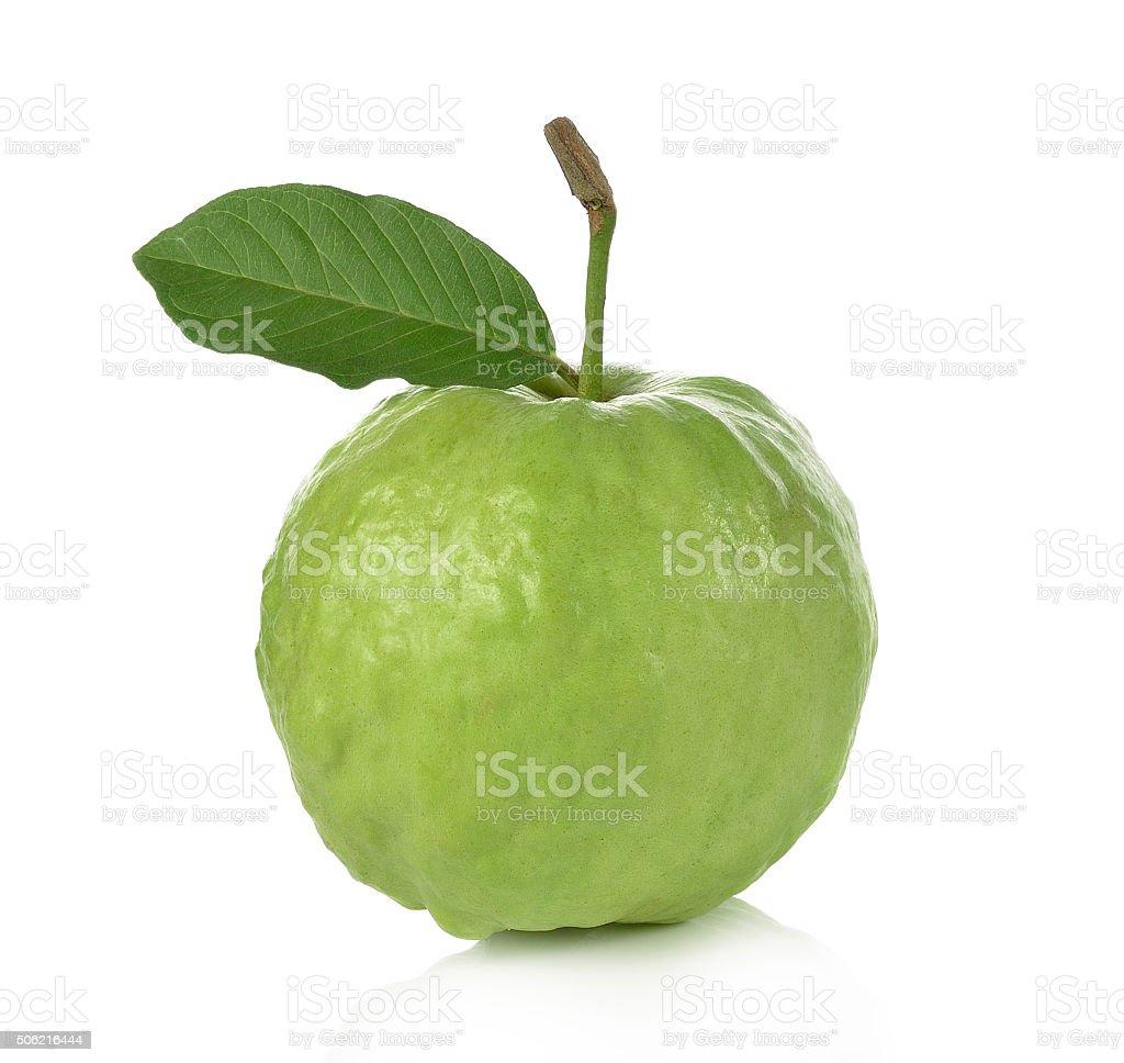 Guava isolated on white background. stock photo