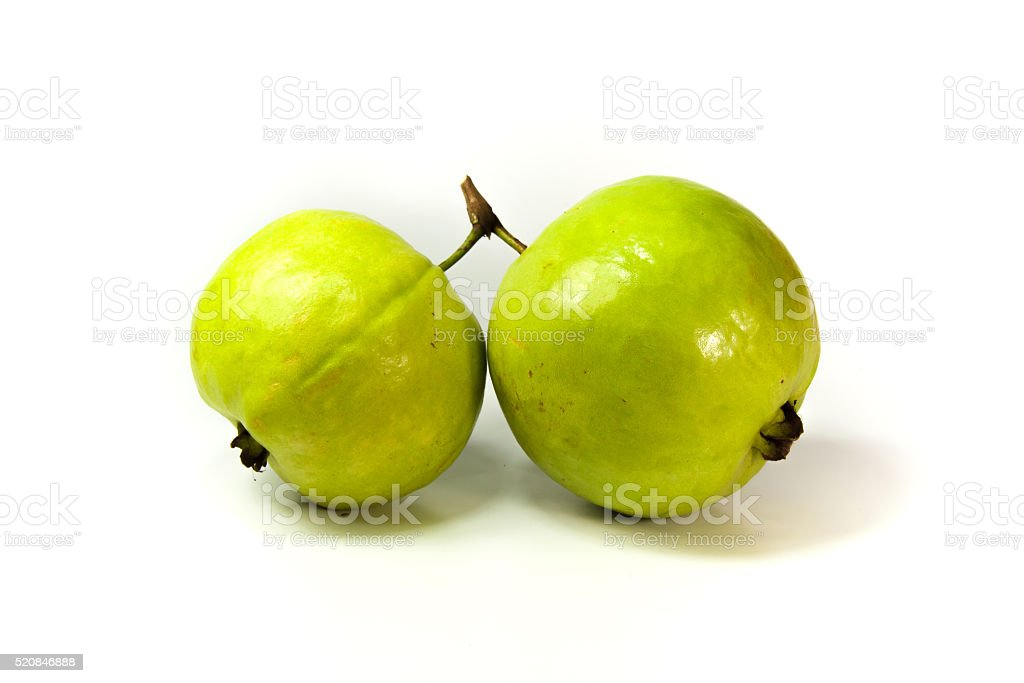 Guava on white background royalty-free stock photo