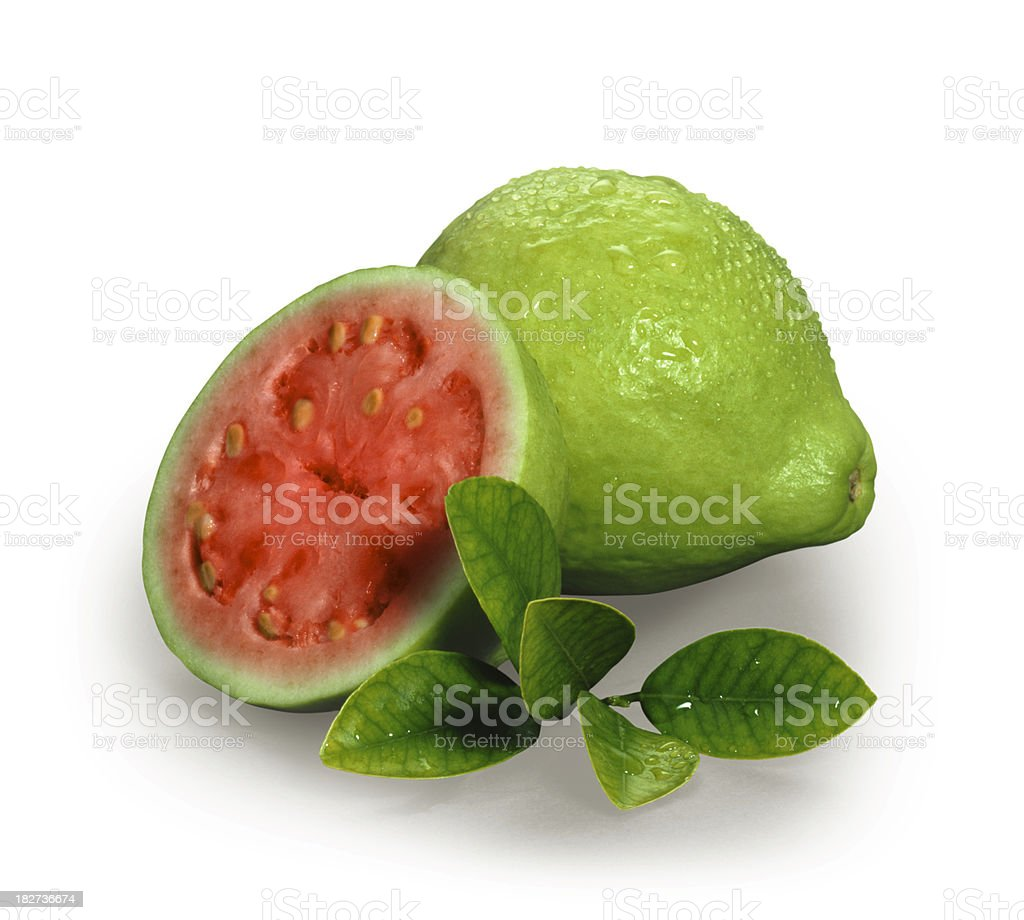 Guava with Leafs stock photo