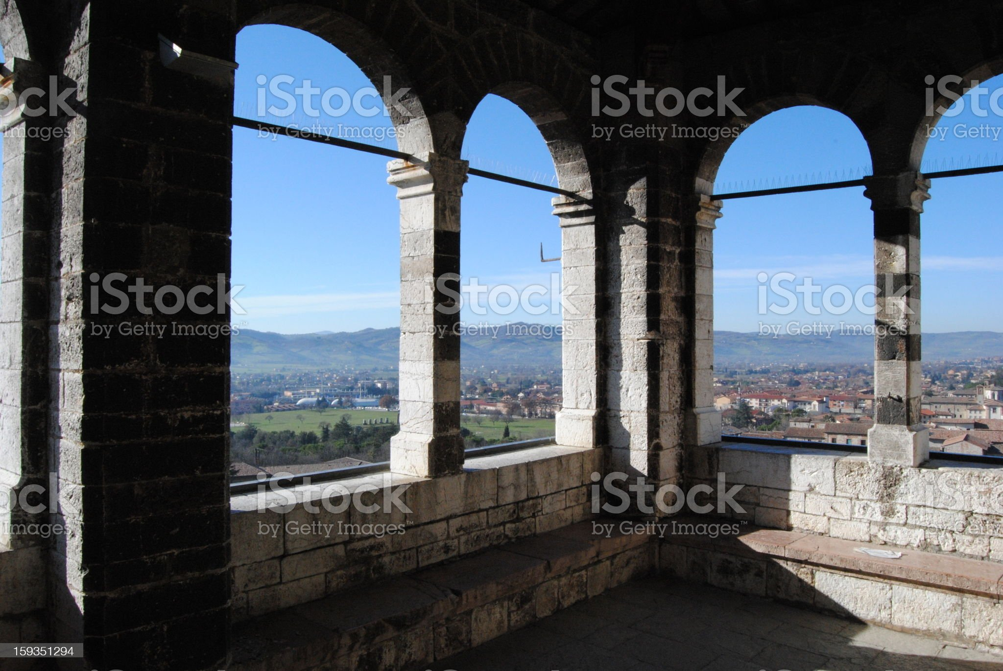 Gubbio: a view on Umbria royalty-free stock photo
