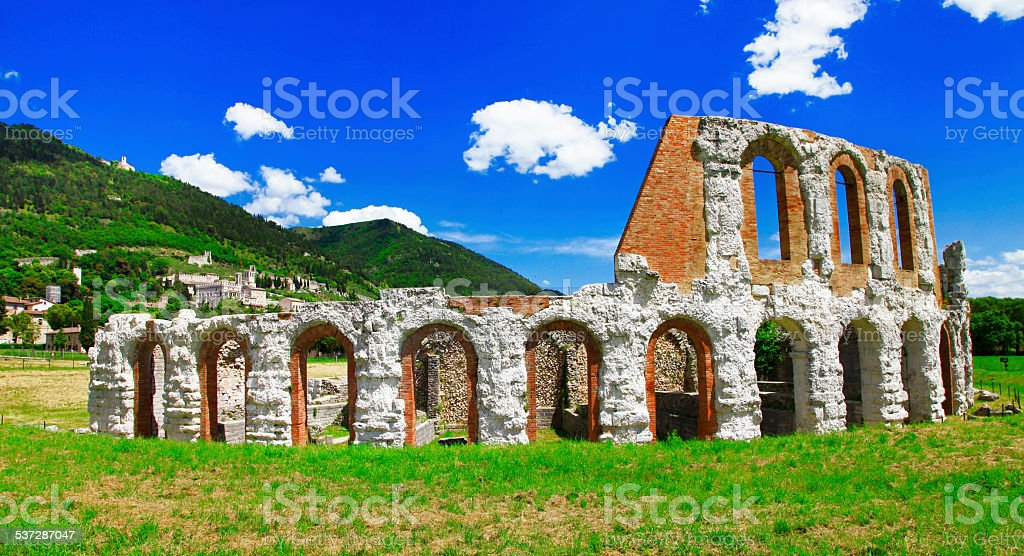 Gubbio, Umbia, Italy. stock photo