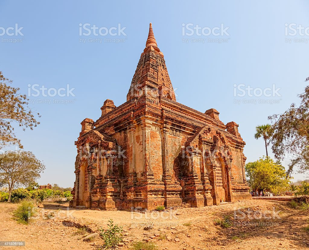 Gubyaukgyi Temple Bagan royalty-free stock photo