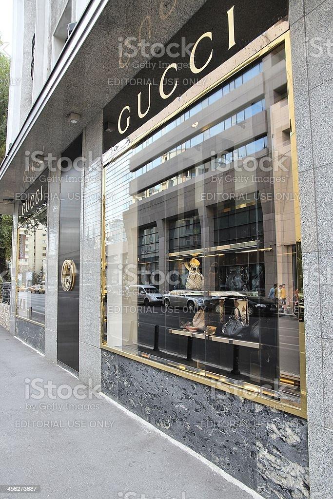 Gucci fashion store royalty-free stock photo