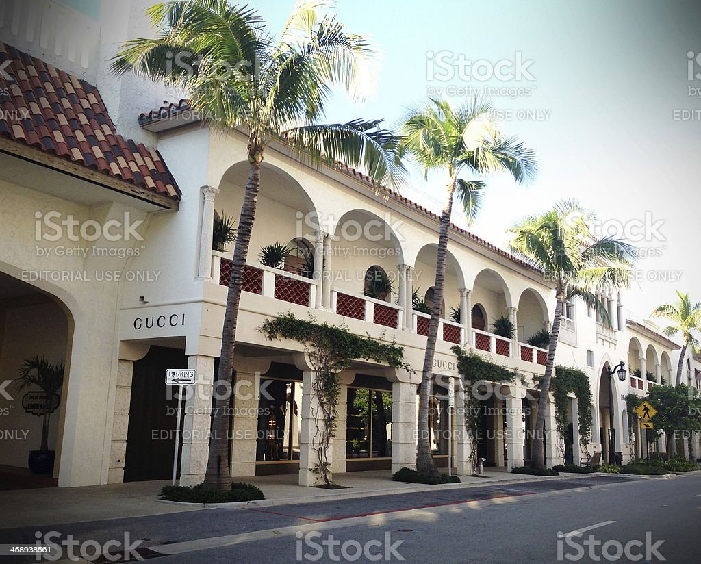 Gucci store on Worth Avenue stock photo