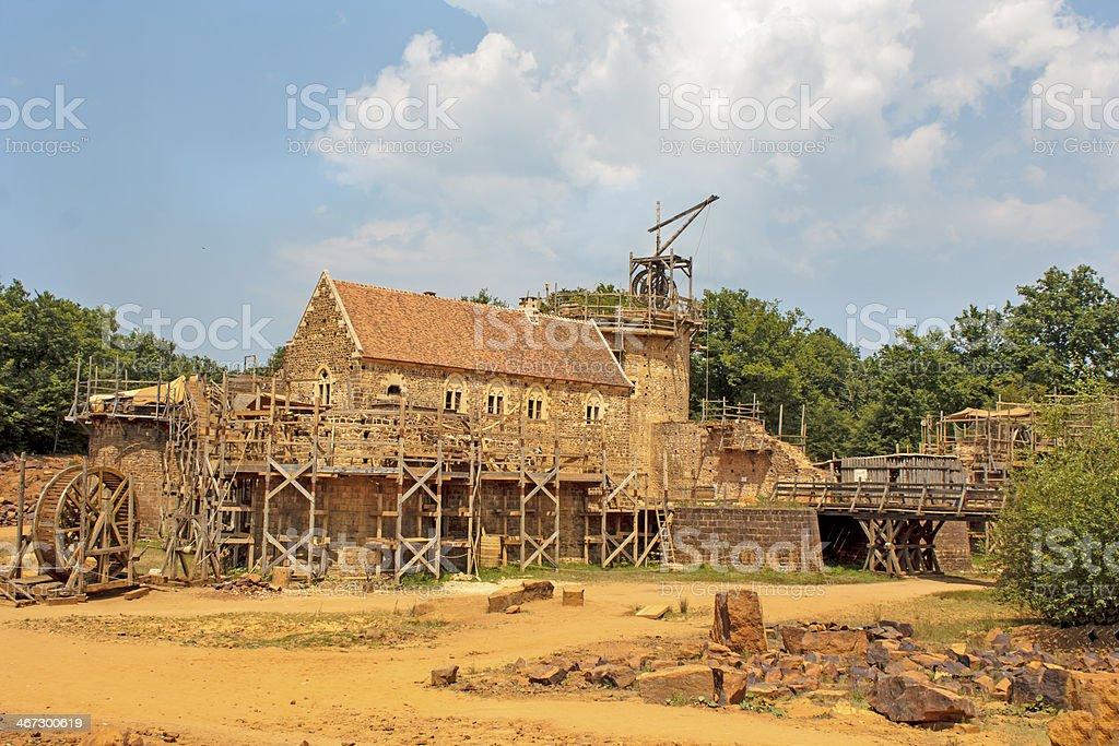 Guédelon medieval construction stock photo