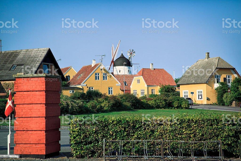 Gudhjem, Bornholm. stock photo