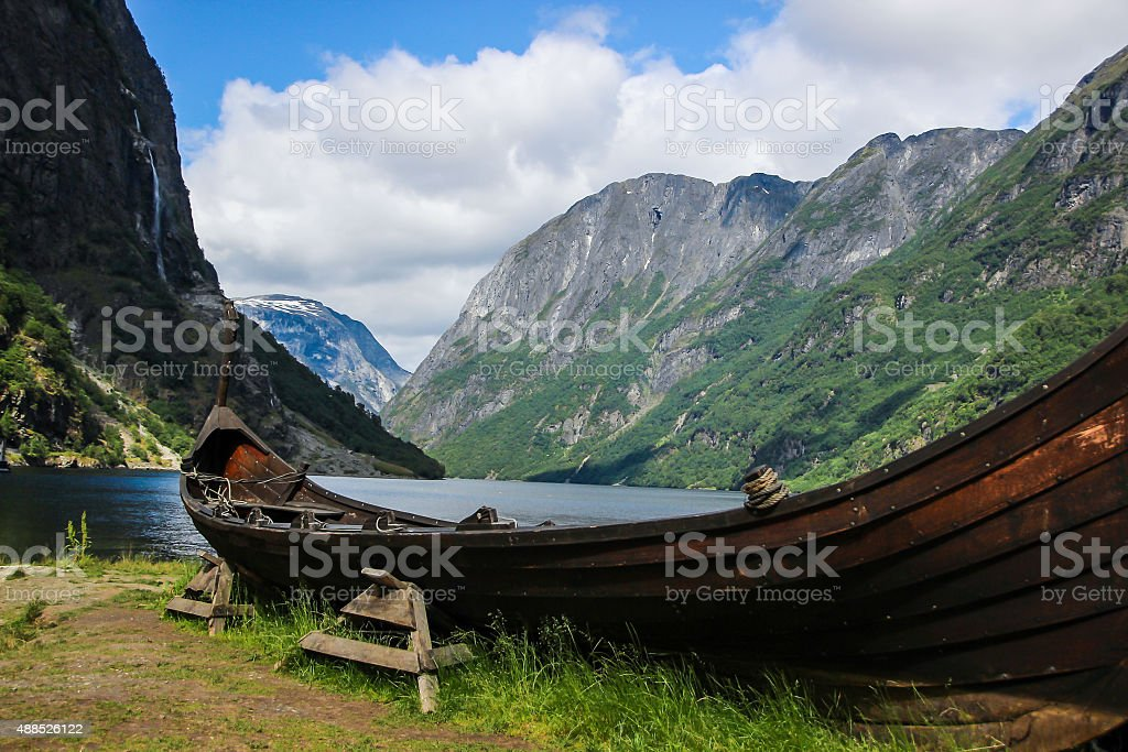 Gudvangen in Norway stock photo