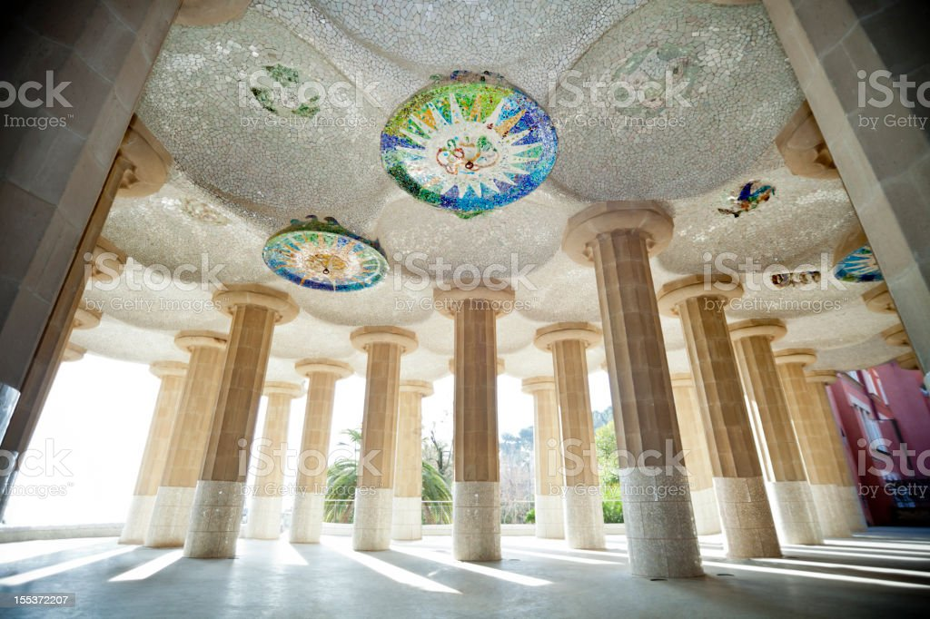 Parc Guell by Gaudi stock photo