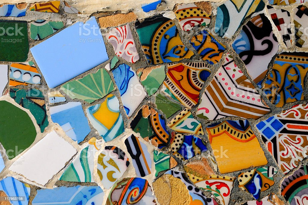 Parc Guell Detail, Barcelona royalty-free stock photo