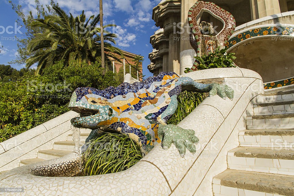 Guell Park in Barcelona royalty-free stock photo