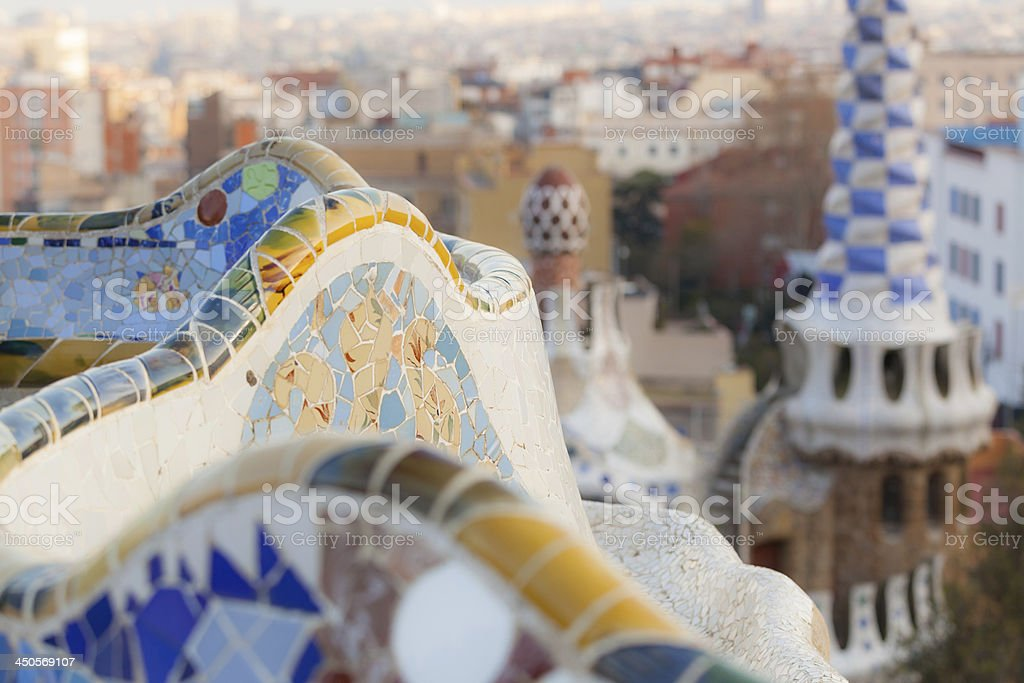 Guell Park in Barcelona stock photo