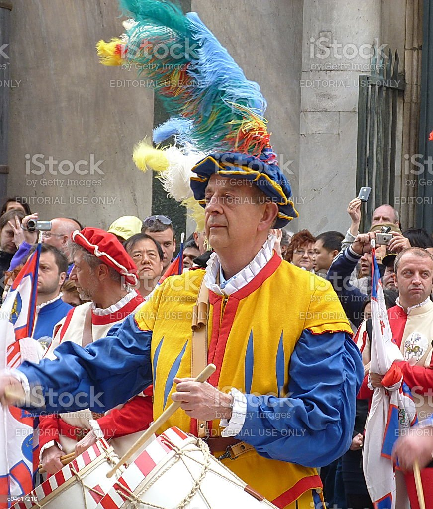 Guelph  Procession of the Florentine Republic stock photo