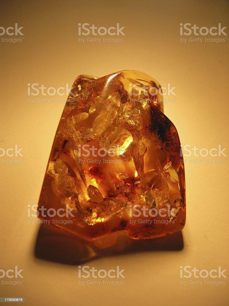 Guenuine Baltic Sea Amber stock photo