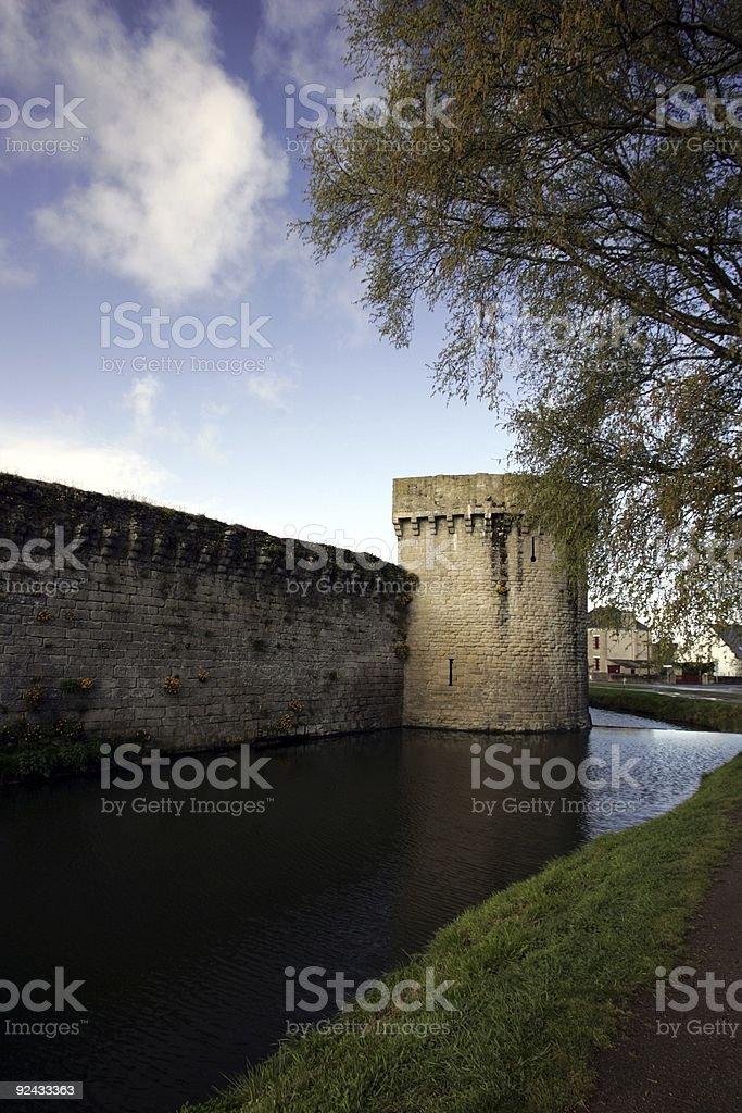 Guerande castle stock photo