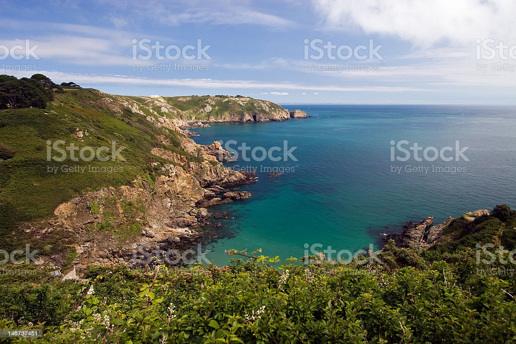 Guernsey Cliff stock photo