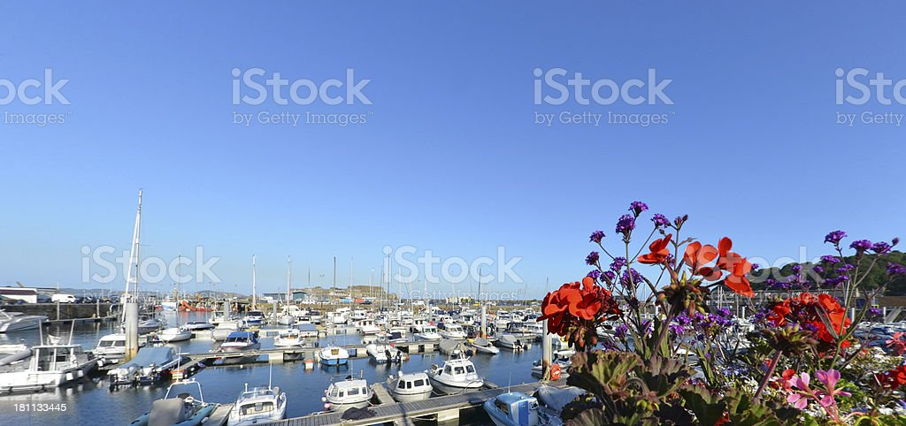 Guernsey Harbour stock photo
