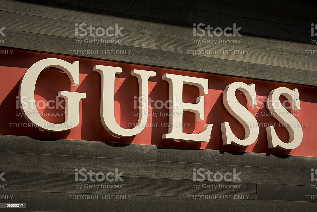 Guess stock photo