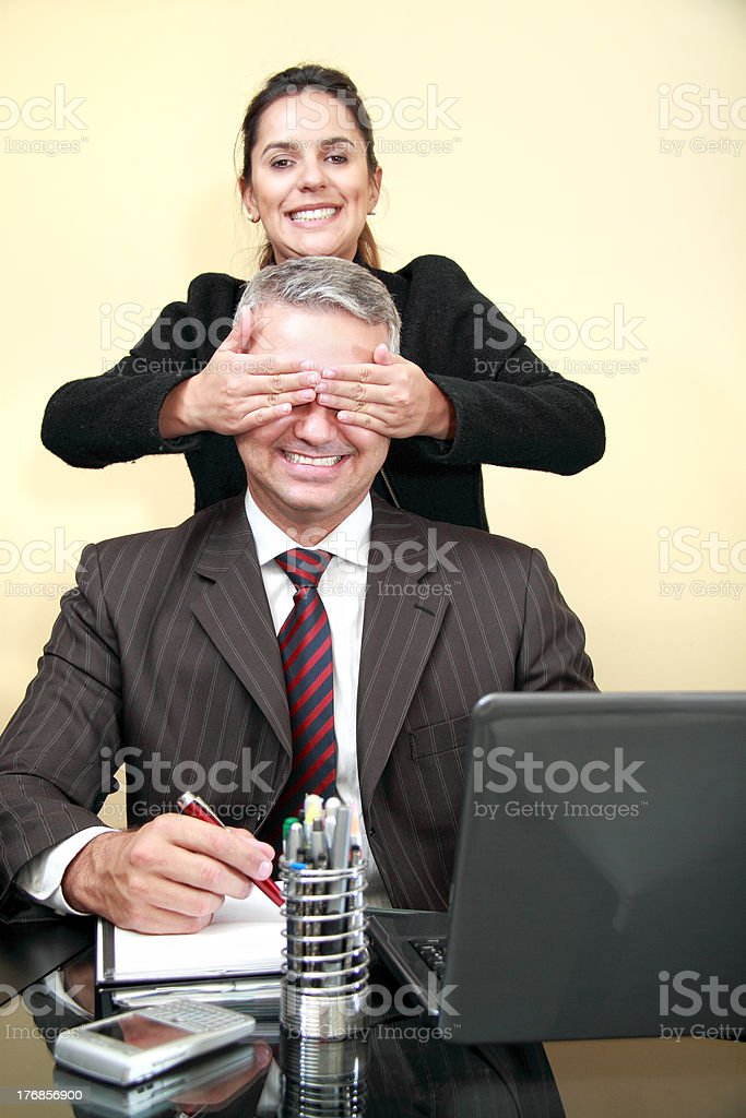Guess who royalty-free stock photo