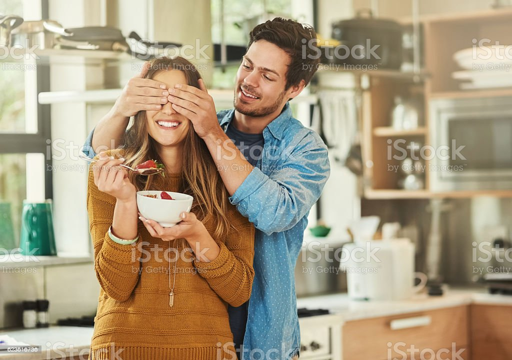 Guess who?! stock photo