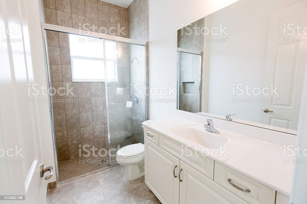 A new home is under construction. This is one of the guest bathrooms...