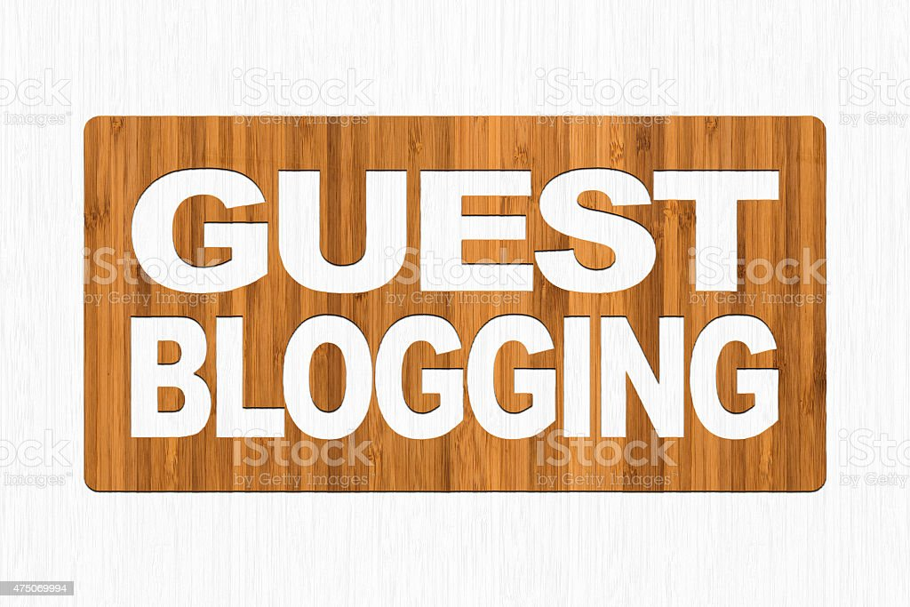 Guest Blogging stock photo