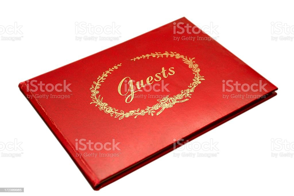 Guest Book Isolated royalty-free stock photo