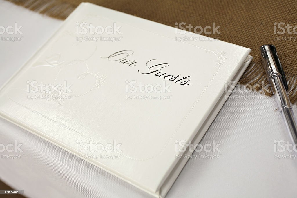 guest book stock photo
