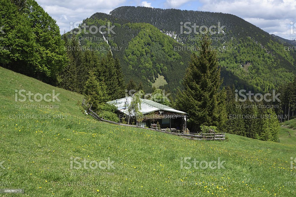 Guest house in German Alps royalty-free stock photo