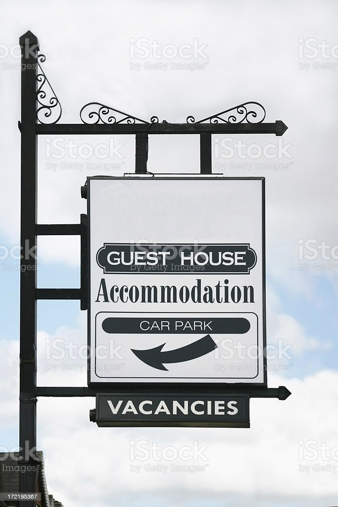 guest house sign royalty-free stock photo