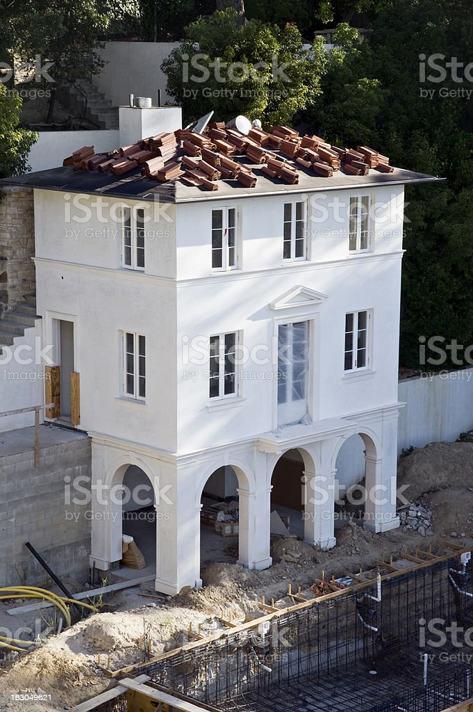 guest house under construction royalty-free stock photo