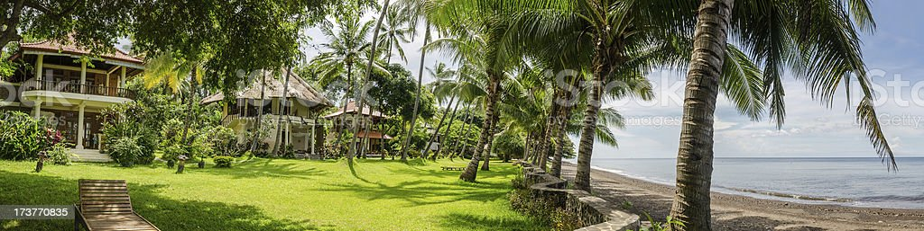 Guest houses in Bali Indonesia stock photo