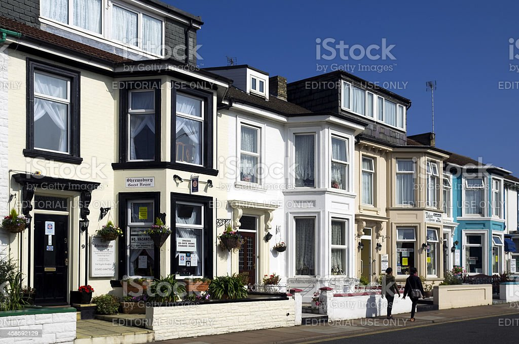 Guest houses in Great Yarmouth royalty-free stock photo