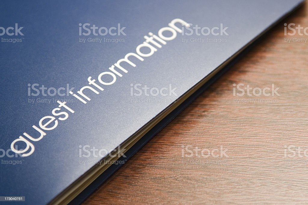 Guest Information stock photo