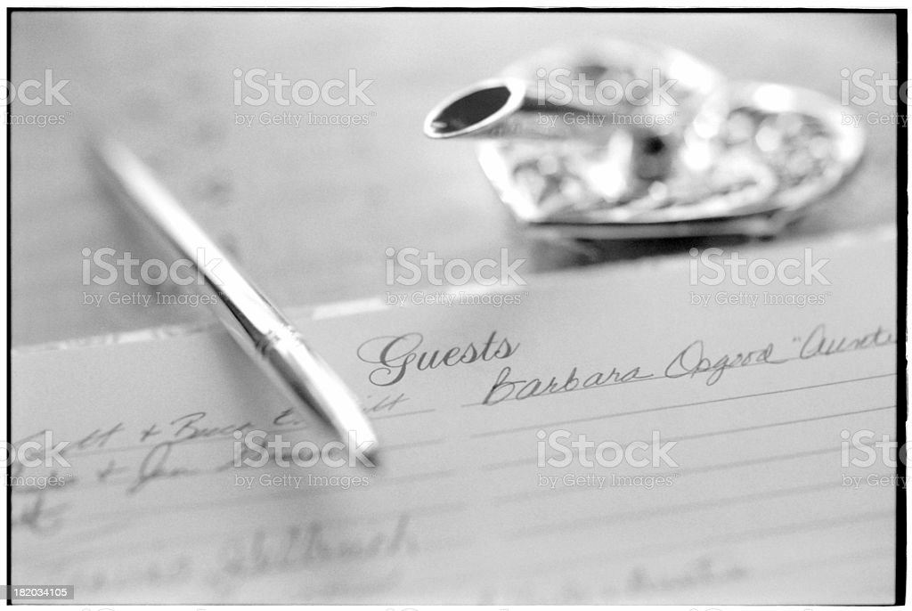 Guest Register royalty-free stock photo