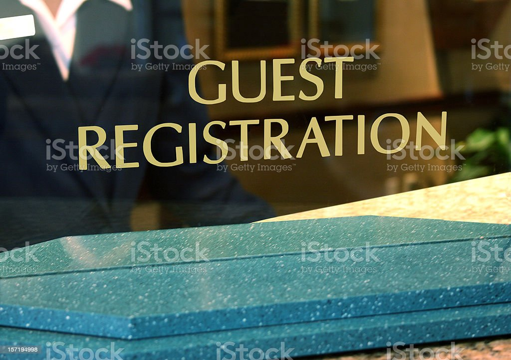 Guest Registration royalty-free stock photo