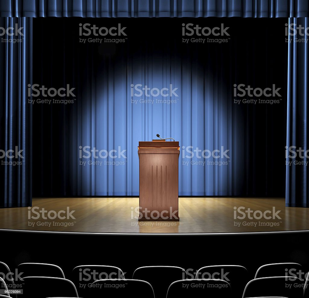 Guest Speaker stock photo
